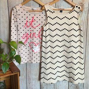 GAP Dress and Top Hearts Bundle